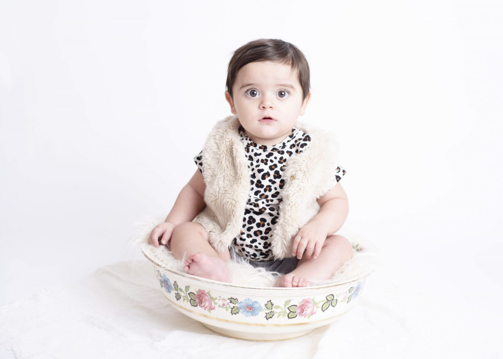 one year old studio photo session