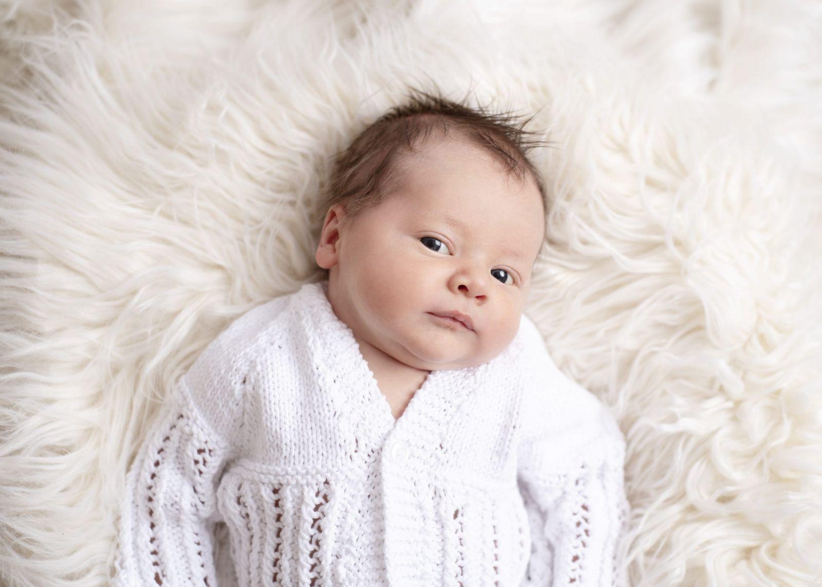 newborn baby studio photography awake