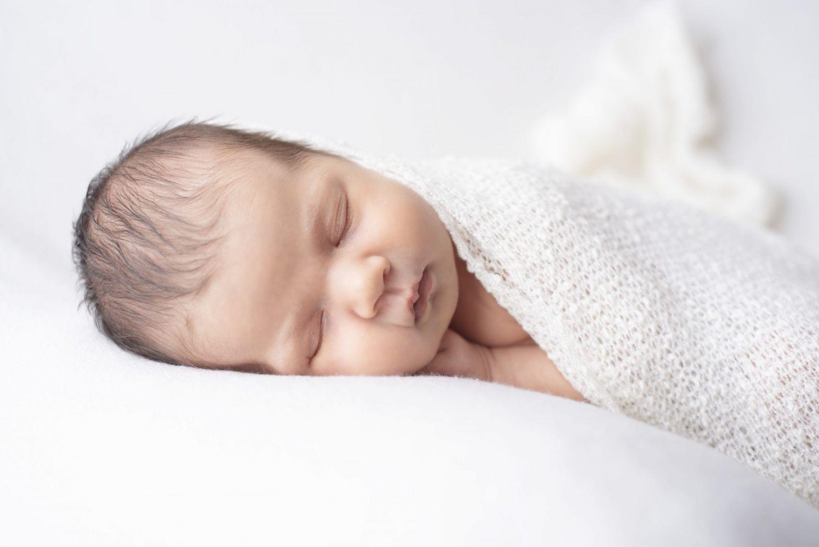 baby with hair newborn Cheshire photographer